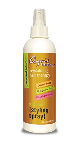 Organic Excellence Wild Mint Styling Spray, Alcohol-Free, pH Neutral, 8 Ounce