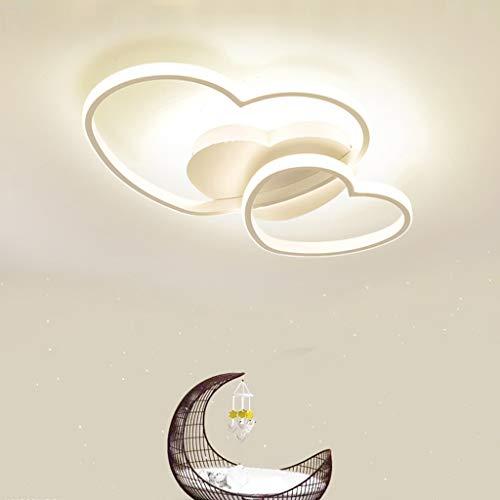 Luz De Techo LED Lámpara Para Habitación De Niños 42W Con Control Remoto Regulable 3000-6500K Corazón Acrílico Lámpara De Techo for La Habitación De Los Niños Dormitorio Y Sala De Estar,Blanco