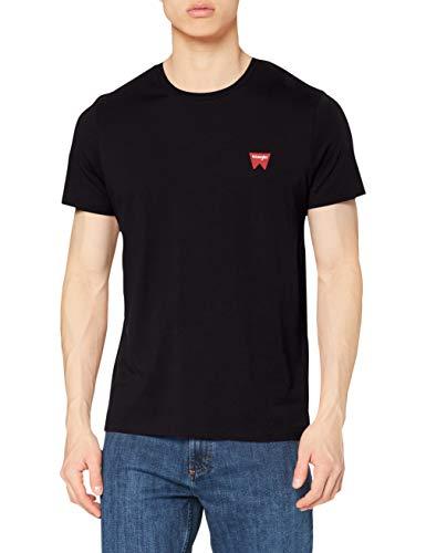 Wrangler Sign Off tee Camiseta, Negro (Black 301), XXX-Large para Hombre