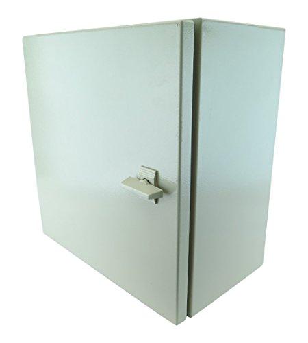 """YuCo YC-16x16x8 IP65 16 Gauge Wall-Mount Standard Indoor/Outdoor Enclosure, 16"""" H x 16"""" W x 8"""" D"""