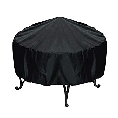 Thrivinger Fire Pit Cover, Fire Pit Cover Round 30-44 Inch, Waterproof 420D Heavy Duty Round Patio Fire Bowl Cover, Outdoor Waterproof Fire Bowl Cover, for Outdoor Patio Garden by Thrivinger