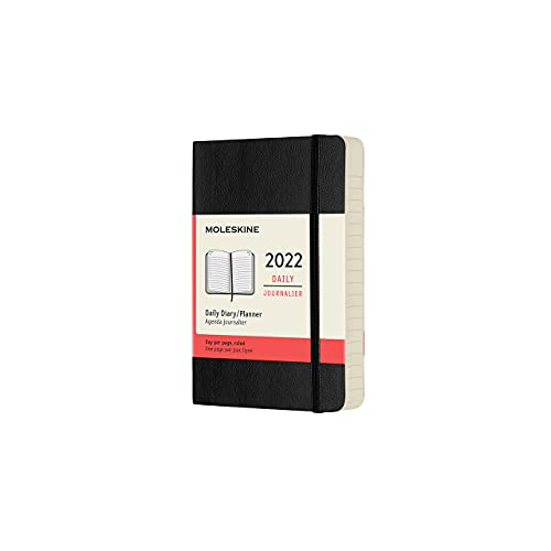 Moleskine Classic 12 Month 2022 Daily Planner, Soft Cover, Pocket (3.5 x 5.5), Black