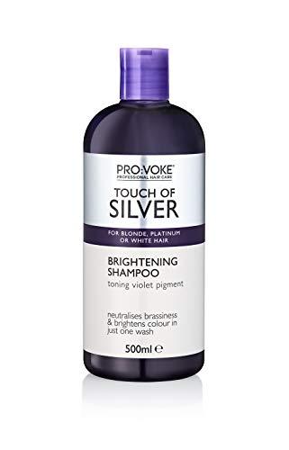 Provoke Pro: Voke Touch of Silver Aufhellendes Shampoo für blondes/platinisches/weißes oder graues Haar, 500 ml