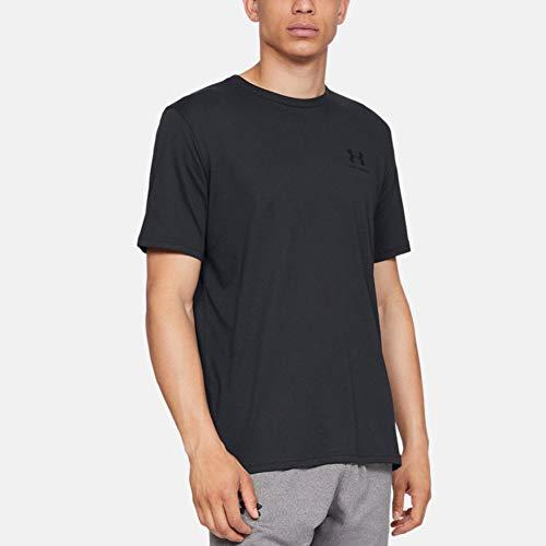 Under Armour Herren Sportstyle Logo Tank sportliches Muskelshirt aus superweichem Stoff, ärmelloses Sportshirt mit loser Passform, Black / Black, M