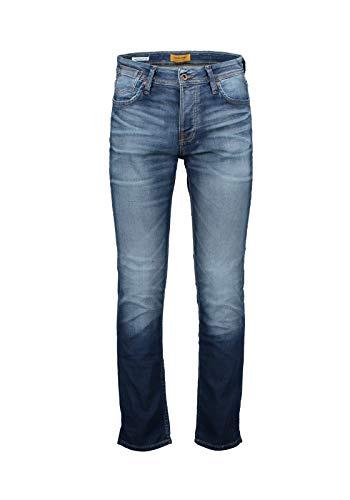 JACK & JONES Herren Jjitim Jjleon Ge 227 I.k. Noos Slim Jeans, Blue Denim, 28W 30L EU