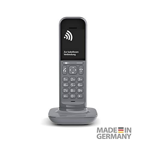 Gigaset CL390HX Universal Mobilteil - Design Telefon kompatibel mit Fritzbox und HD Voice Freisprechfunktion - schnurloses DECT Telefon mit großem Grafik Display, Satellite Grey
