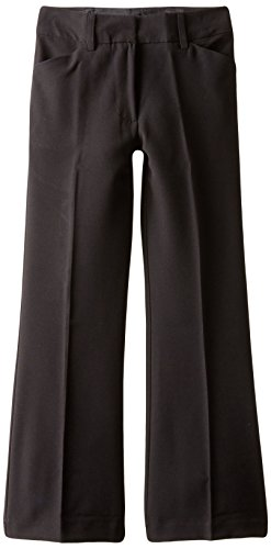 Amy Byer Girls' 7-16 School Uniform Pants with Stretch, Black, 10