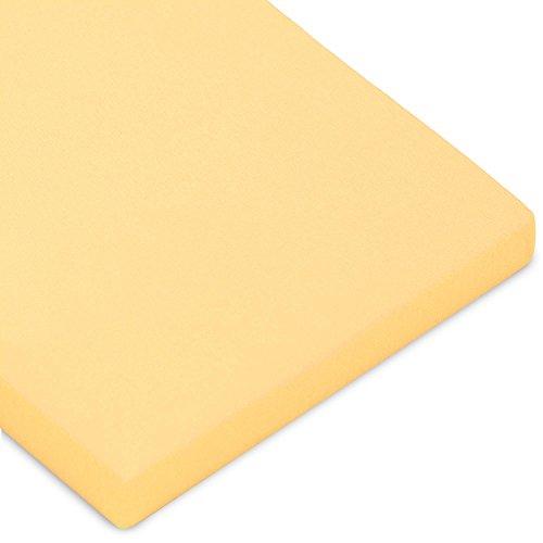 CelinaTex Casca Topper hoeslaken 180x200-200x220 cm crème geel katoen spanbeddoek elastaan laken
