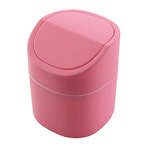 FORUU Cute Mini Desktop Press Clamshell Debris Storage Bucket Coffee Table Paper Basket,Portable Household Trash Can,Debris Sorting Trash,Waste Basket,Small Trash Can,Best for Home Office Kitchen