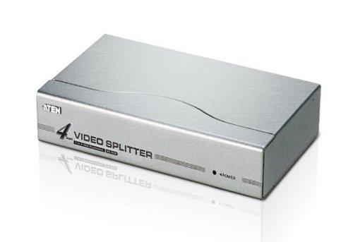 VGA splitter verdeler 4-voudige versterker met voeding