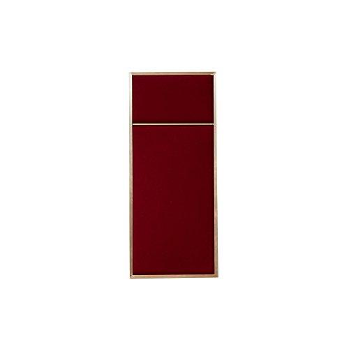 WAARSCHUWEN TE ZETEN Nouveau Pin Pin Board Messing LxBxH 62x27x2,5cm Rood