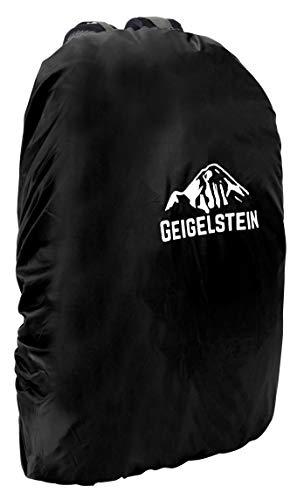 GEIGELSTEIN Raincover Black, 30-45 Liter, Rucksack Regenhülle mit wasserdichter Membran