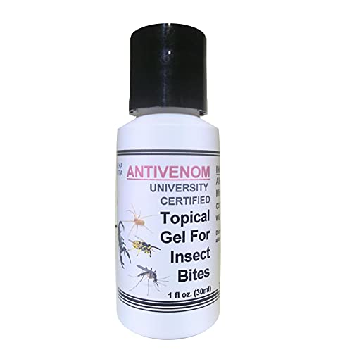 Insect Bites ANTIVENOM Gel $14.99 Topical Treatment for Mosquito Spiders Snakes Ants & Other Poisonous Bites. Mineral Silicate University Certified by ALKAVITA