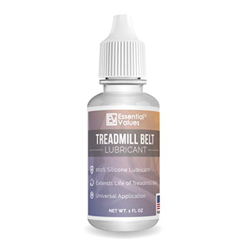 Essential Values Treadmill Belt Lubricant - Odorless & Toxin-Free Silicone Oil - Silicone Lubricant Reduces Noise - Easy Squeeze Flow Treadmill Lubricant Universal Treadmill Lube