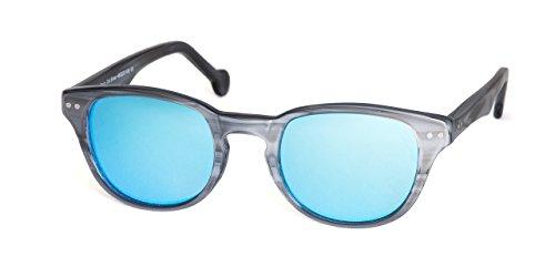 MUNICH ART FRAMES - Gafas de sol unisex, redondas, color plateado