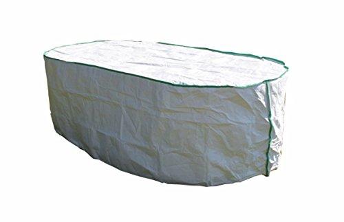 housse de protection pour table de jardin ovale excl. de Tyvek - avec sac de stockage - dimensions: 200cm x 100cm x 75cm