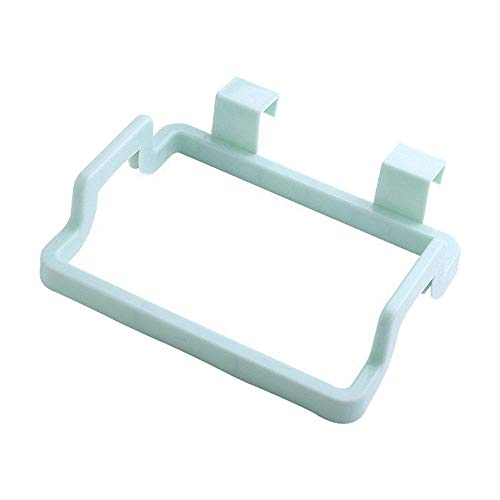 CNSFFS Soporte para bolsa de basura colgante, organizador portátil, práctico soporte de plástico para armario de cocina