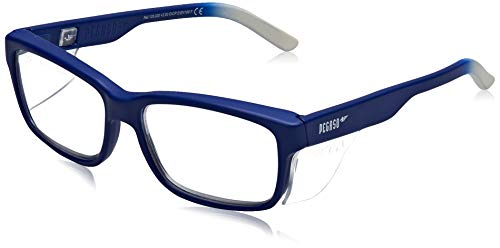 Pegaso Work and Fun Brille gegen impactó Objektiv mit Pre Sehstärke, mehrfarbig (Blau/Weiß), +2.5, L