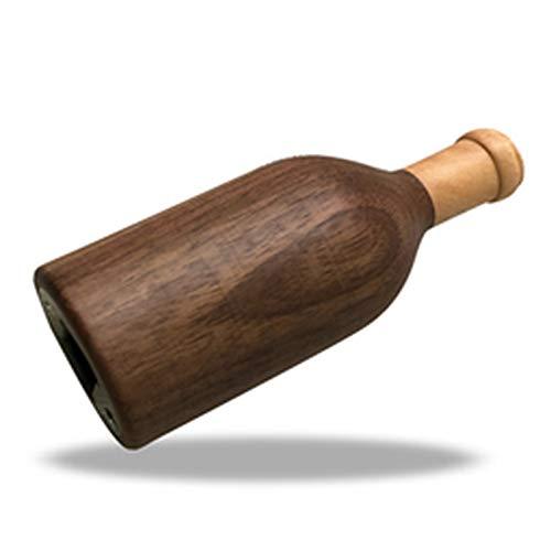 NBSXR -Abrebotellas, abridor de Botellas de Vino Personalizado de Nogal Negro, abridor de Botellas Creativo, abridor de Botellas de Acero Inoxidable para el hogar de Cerveza de Madera Maciza