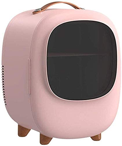 FHKBK Mini Nevera Refrigerador de Belleza de 8 litros, refrigerador pequeño, Enfriador y Calentador cosmético, Calentador de Alimentos, Enfriador de enfriamiento, Calentador de Alimentos
