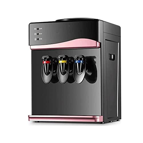 Dispensador de agua de escritorio pequeño con tres grifos Cálido Hielo caliente Dispensador de agua pequeño Ahorro de agua Calentador de agua Máquina de agua fría (Color : Rose Gold, Size : A)