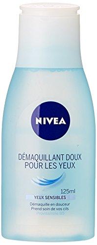 Nivea Démaquillant doux pour les yeux, tous types de peaux - Le flacon de 125ml