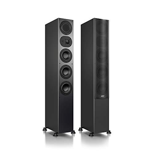 Nubert nuLine 264 Standlautsprecherpaar | Lautsprecher für Musikgenuss | Heimkino & HiFi Qualität auf hohem Niveau | Passive Standboxen mit 3 Wege Technik Made in Germany | Standbox Schwarz | 2 Stück