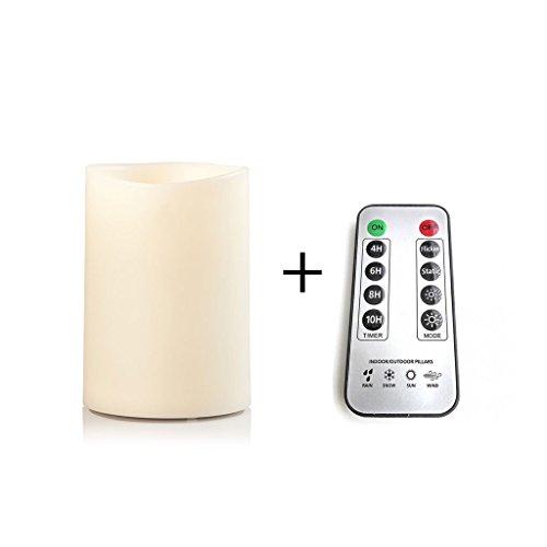 sompex LED Außenkerze - Kunststoff 9x12,5 elfenbein MIT Fernbedienung