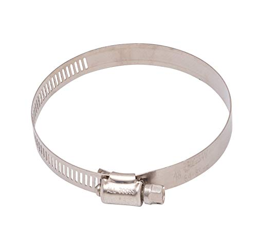 1-9 16  to 2-1 2  Diameter Stainless Hose Clamp, 9 16  Wide Band, (#32) 300 SS, 18-8 S S (10pc)