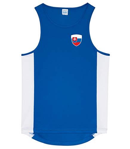Nation Slowakei Tank Top Trikot Ärmellos Sport Fitness ATH BR-B (S)