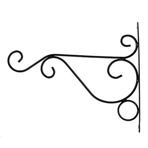 Omabeta Eisen Einfache Installation Aufhängevorrichtung 30 * 21cm für Courtyard Brond Neu(Black)