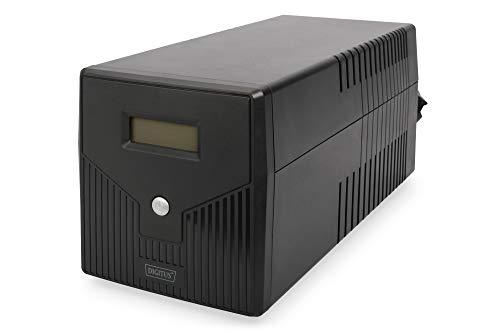 DIGITUS Line-Interactive VI USV - 2000VA / 1000W - AVR - 4 Schutzkontakt-Steckdosen - Shutdown-Software - USB/RS232/RJ45