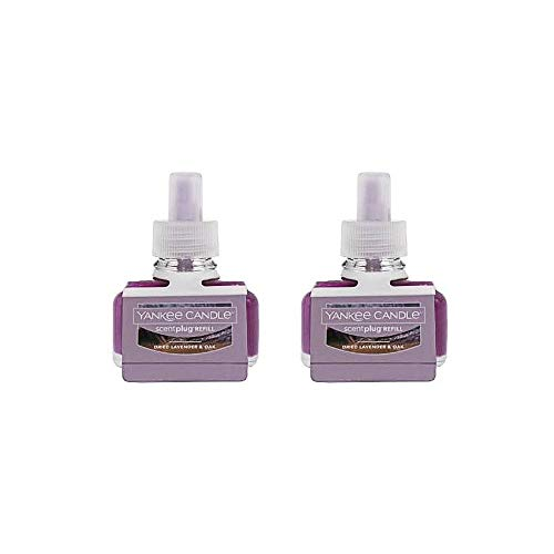 Yankee Candle Lot of 2 Dried Lavender & Oak Scentplug Refill