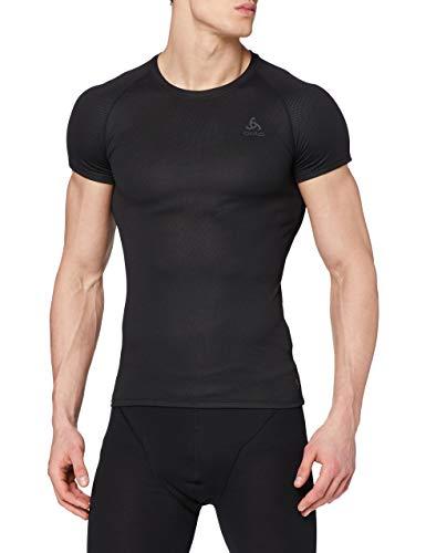 Odlo Herren BL TOP Crew neck s/s ACTIVE F-DRY LIGHT Unterhemd, black, M