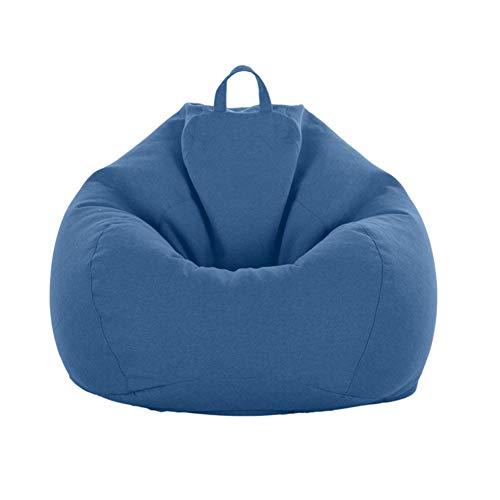 STTC Erwachsene Kinder Sitzsack Bezug ohne Füllung,Einfarbig Einfaches Design Premium Leinen Riesen-Sitzsack-Hülle Außenbezug, Keine Füllung,S12,XL
