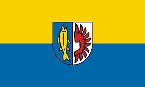 Unbekannt magFlags Tisch-Fahne/Tisch-Flagge: Remseck am Neckar 15x25cm inkl. Tisch-Ständer