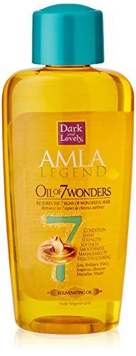 Dark & Lovely Huile Nourrissante Merveilleuse Actions 7en1, Discipline des Cheveux à l'Huile d'Amla pour les Cheveux Défrisés, Abîmés, Très Secs - 125