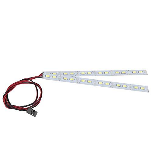 Dilwe Lámpara de luz de chasis General 24LED para 1/10 1/8 Modelo de accionamiento eléctrico/Aceite RC Accesorios de Coche luz de chasis
