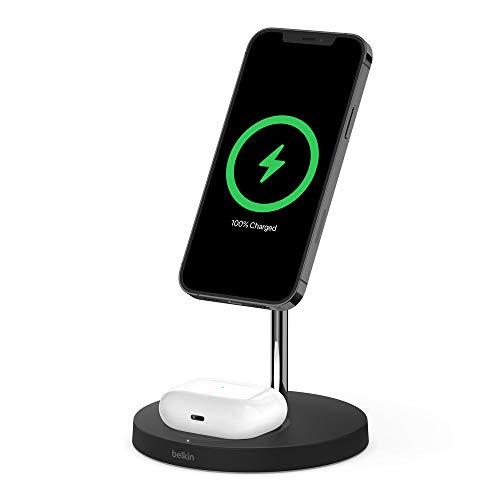 Belkin ワイヤレス 充電器 MagSafe認証品 iPhone 12 / mini/Pro/Pro Max/AirPods 対応 最大15W ブラック WIZ010dqBK-A