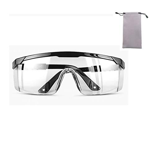 Clear Safety Goggles Anti-fog Transparent Safety Glasses UV...