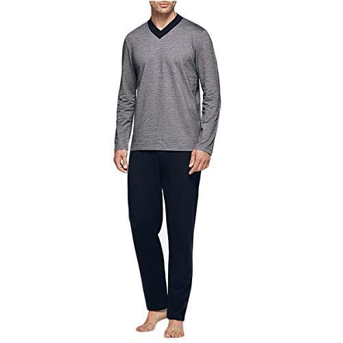 Impetus - Pijama alto a rayas azul marino S