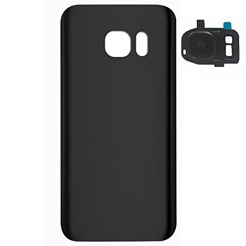 UU FIX Tapa de Batería para Samsung Galaxy S7 Edge G9350(Negro) de la Reemplazo Parte Trasera Battery Cover con Kit Reparación.