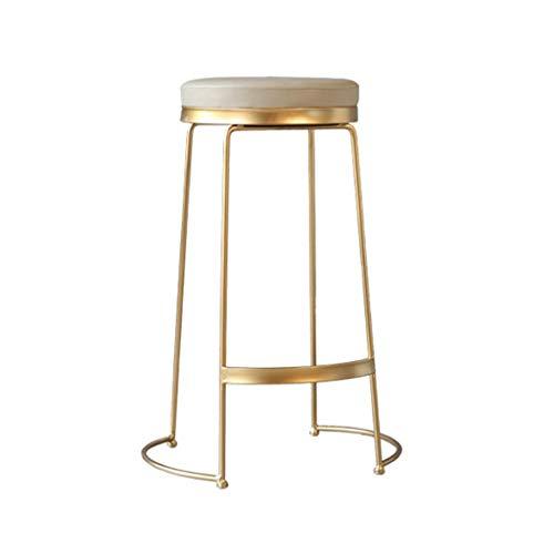 Tuqia Meubel, creatieve barkruk, goud, meerdere hoogtes, barstoel, keukenaanrecht, eetkamerstoel, café, balkon, loungebank, 45-75 cm