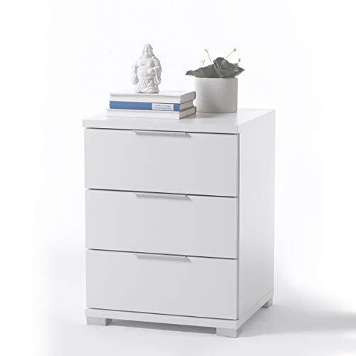 Stella Trading Universal Comodino, Legno, bianco, 42 x 46 x 61 cm