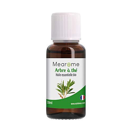 Huile essentielle TEA TREE BIO (Arbre à thé) - Aromathérapie Diffuseur, Peau saine, Acné, Voies...