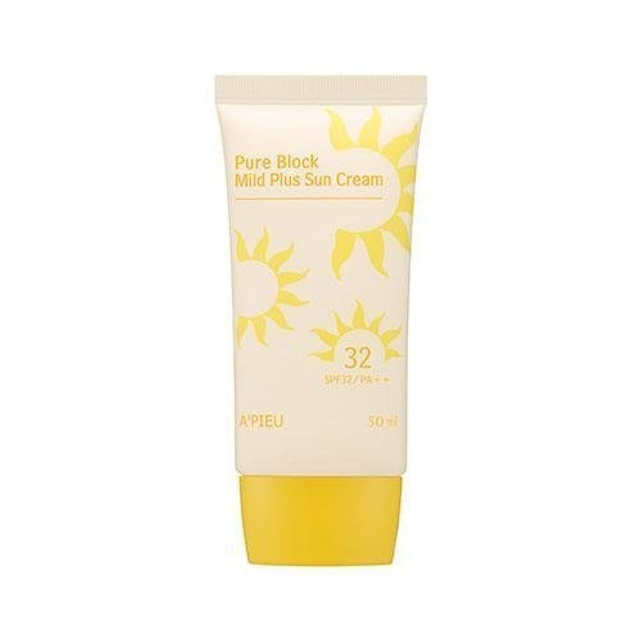 植物学者制限地区APIEU Pure Block Mild Plus Sun Cream (SPF32/PA++)/ Made in Korea