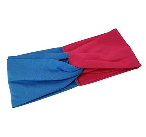 Diadema turbante, banda para el cabello Criss Cross Head Wrap Banda elástica para el cabello Yoga Running Sports Workout Headwraps para mujeres y niñas