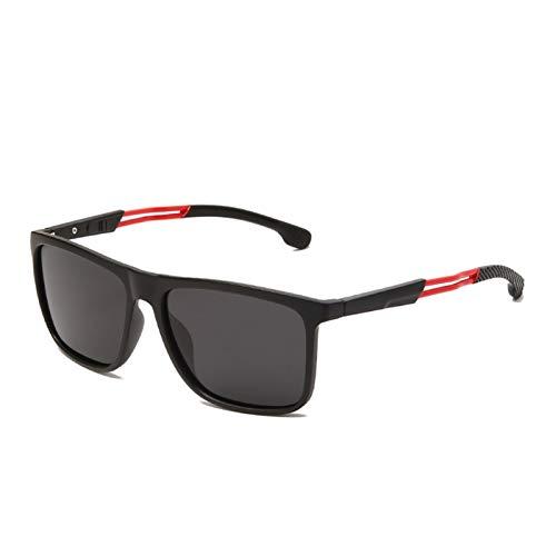 A1-Brave Gafas de Sol Hombres Mujeres Square Gafas de Sol Polarizadas Unisex Vintage Gafas de Sol Plástico Marco de Titanio (Lenses Color : 1 JC2036 C5)