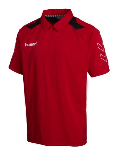 hummel Polo Roots Shirt, True red, S, 02-501-3062