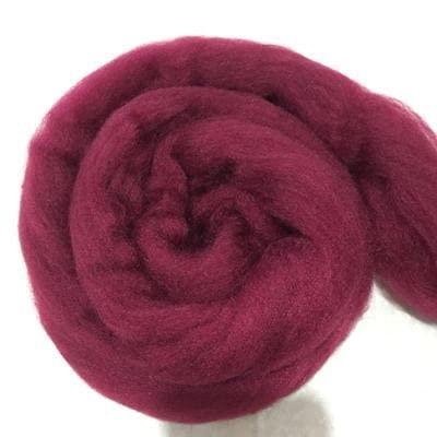 Suave 1000 g/Bola Hilo súper Grueso Soft Merino Hilos de Lana Merino Grande Hilado Grueso Brazo voluminoso ROVING Manta de Tejer Spinning Wool Wool para Tejer y Tejer (Color : Vino)